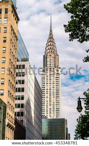 NEW YORK - 15 JULY 2016: Chrysler building facade on Manhattan  was the world's tallest building before it was surpassed by the Empire State Building in 1931.