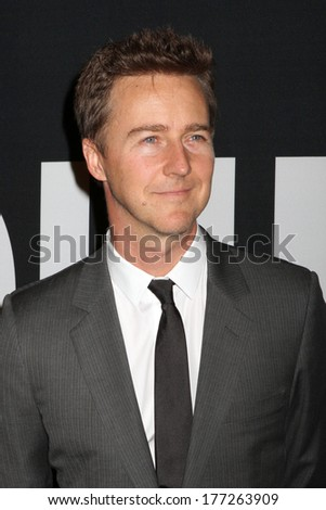 "NEW YORK - July 30, 2012: Edward Norton attends the premiere of ""The Bourne Legacy"" at the Ziegfeld Theater on July 30, 2012 in New York City. - stock photo"