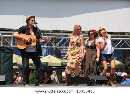 NEW YORK - JULY 17: Jeb Brown, Lauren Kennedy, and others Performed in the Pure Country - The Broadway at Bryant Park in NYC - a free public event on July 17, 2008 - stock photo