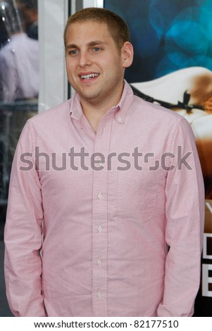 """NEW YORK - JULY 19: Jonah Hill attends the world movie premiere of """"Crazy Stupid Love"""" at the Ziegfeld Theatre on July 19, 2011 in New York City. - stock photo"""