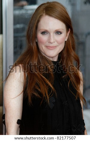 "NEW YORK - JULY 19: Julianne Moore attends the world movie premiere of ""Crazy Stupid Love"" at the Ziegfeld Theatre on July 19, 2011 in New York City."
