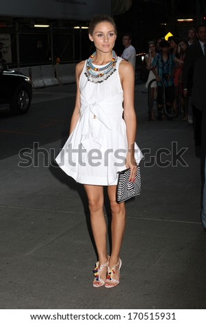 """NEW YORK - JULY 16: Olivia Palermo attends a screening of """"Red 2"""" at the Museum of Modern Art on July 16, 2013 in New York City. - stock photo"""