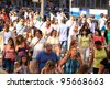 NEW YORK - JULY 15: People of different ethnicity on July 15, 2011 in New York. New York City is multicultural. About 36% of the city's population is foreign-born, one of the highest among US cities. - stock photo