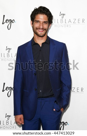 "NEW YORK-JUN 25: Actor Tyler Posey attends Logo TV's ""2015 Trailblazer Honors"" at the Cathedral of Saint John the Divine on June 25, 2015 in New York City. - stock photo"