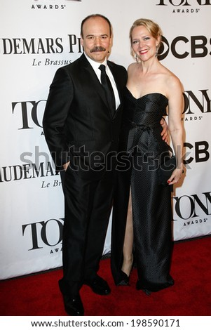 NEW YORK-JUNE 8: Actor Danny Burstein (L) and Rebecca Luker attend American Theatre Wing's 68th Annual Tony Awards at Radio City Music Hall on June 8, 2014 in New York City. - stock photo