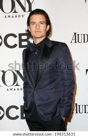 NEW YORK-JUNE 8: Actor Orlando Bloom attends American Theatre Wing's 68th Annual Tony Awards at Radio City Music Hall on June 8, 2014 in New York City. - stock photo