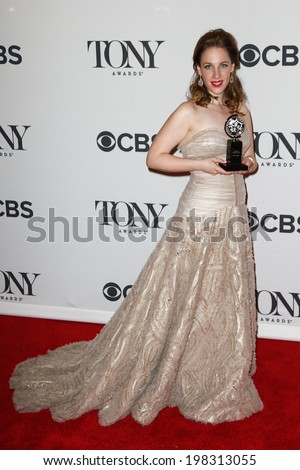 NEW YORK-JUNE 8: Actress Jessie Mueller poses in the press room at the American Theatre Wing's 68th Annual Tony Awards at Radio City Music Hall on June 8, 2014 in New York City. - stock photo