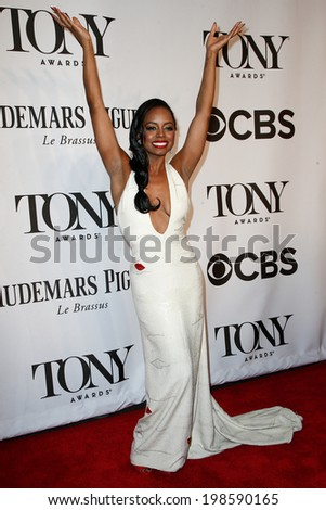NEW YORK-JUNE 8: Actress Krystal Joy Brown attends American Theatre Wing's 68th Annual Tony Awards at Radio City Music Hall on June 8, 2014 in New York City. - stock photo