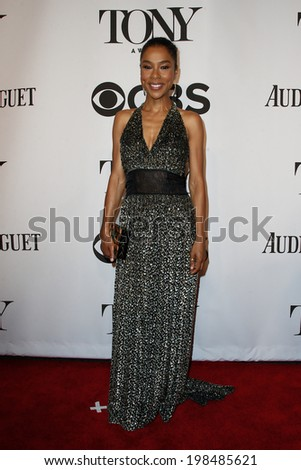 NEW YORK-JUNE 8: Actress Sophie Okonedo attends American Theatre Wing's 68th Annual Tony Awards at Radio City Music Hall on June 8, 2014 in New York City. - stock photo