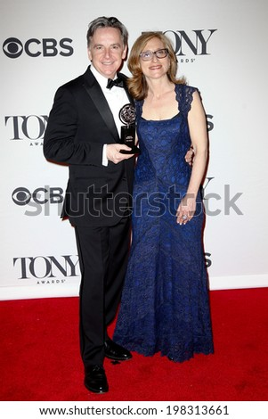 NEW YORK-JUNE 8: Artistic director James Houghton (L) and Executive Director Erika Mallin at American Theatre Wing's 68th Annual Tony Awards at Radio City Music Hall on June 8, 2014 in New York City. - stock photo