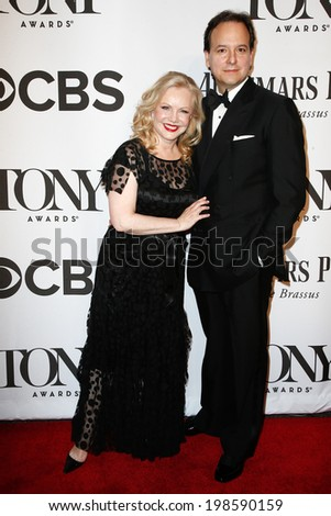 NEW YORK-JUNE 8: Director Susan Stroman and guest attend American Theatre Wing's 68th Annual Tony Awards at Radio City Music Hall on June 8, 2014 in New York City. - stock photo