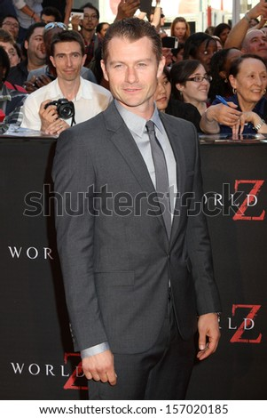"NEW YORK -JUNE 17: James Badge Dale attends the premiere of ""World War Z"" in Times Square on June 17, 2013 in New York City."