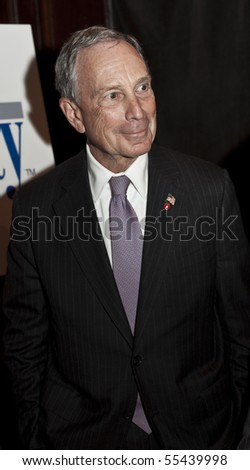 NEW YORK - JUNE 17: Mayor Michael Bloomberg attends Inside Broadway 2010 Beacon Awards at Players Club on June 17, 2010 in New York City. - stock photo