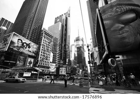 NEW YORK - JUNE 8: New York Times Square street scene June 8, 2008 - stock photo