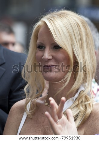 NEW YORK - JUNE 26: Sandra Lee attends press conference at pride parade on June 26, 2011 in New York City, NY. - stock photo
