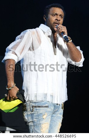 NEW YORK - JUNE 11, 2016:  Shaggy performs during the Summer Jam concert at the Jones Beach Theater on June 11, 2016 in New York.