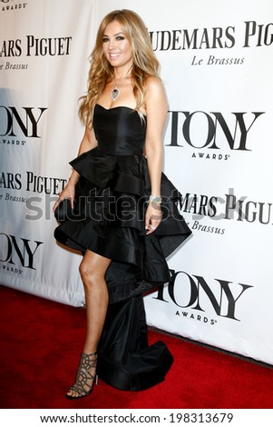 NEW YORK-JUNE 8: Singer Thalia attends American Theatre Wing's 68th Annual Tony Awards at Radio City Music Hall on June 8, 2014 in New York City. - stock photo