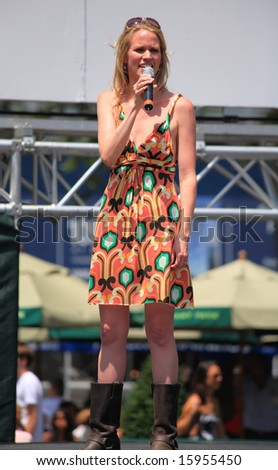 NEW YORK - 17: Lauren Kennedy Performed in the Pure Country - The Broadway at Bryant Park in NYC - a free public event on July 17, 2008 - stock photo