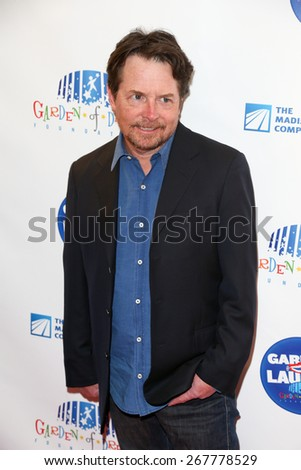 NEW YORK-MAR 28: Actor Michael J. Fox attends the 2015 Garden Of Laughs Comedy Benefit at the Club Bar and Grill at Madison Square Garden on March 28, 2015 in New York City. - stock photo