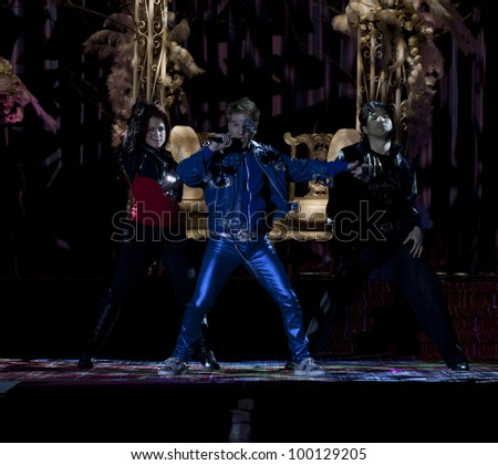 NEW YORK - MARCH 31: Adam Barta performs on stage at the 26th annual Night Of A Thousand Gowns at the Marriott Marquis Times Square on March 31, 2012 in New York City