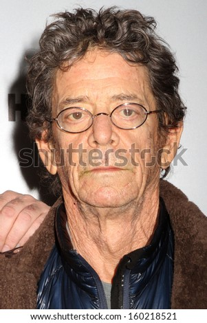 "NEW YORK - MARCH 13: Lou Reed attends the premiere of ""Phil Spector"" at the Time Warner Center on March 13, 2013 in New York City."