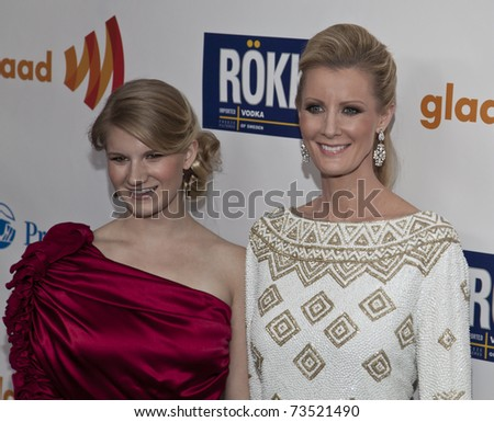 NEW YORK - MARCH 19: Sandra Lee and guest attend the 22nd Annual GLAAD Media Awards at The New York Marriott Marquis on March 19, 2011 in New York City. - stock photo