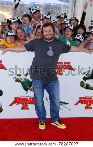 "NEW YORK - MAY 24:  Actor Jack Black attends the New York premiere of ""Kung Fu Panda 2"" at the Ziegfeld Theatre on May 24, 2011 in New York City."