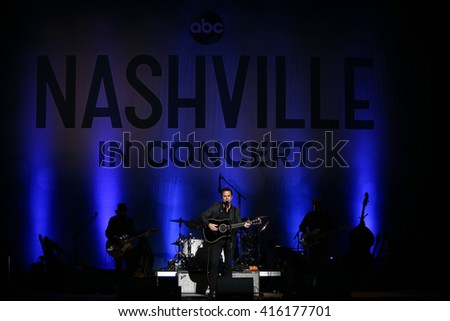 "NEW YORK-MAY 5: Actor/singer Charles Esten performs onstage during ABC's ""Nashville"" US Tour at the Theater at Madison Square Garden on May 5, 2016 in New York  City. - stock photo"