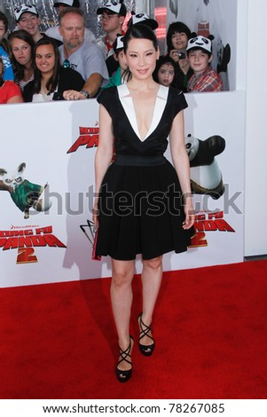 """NEW YORK - MAY 24:  Actress Lucy Liu attends the New York premiere of """"Kung Fu Panda 2"""" at the Ziegfeld Theatre on May 24, 2011 in New York City. - stock photo"""