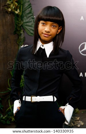 """NEW YORK - MAY 29: Actress Willow Smith attends the premiere of """"After Earth"""" at the Ziegfeld Theatre on May 29, 2013 in New York City.  - stock photo"""