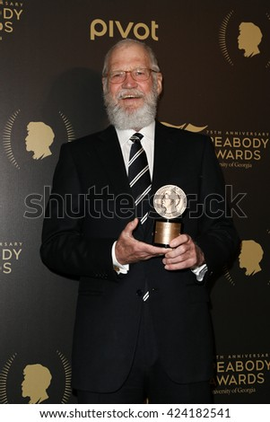 NEW YORK-MAY 21: David Letterman attends the 75th Annual Peabody Awards Ceremony at Cipriani Wall Street on May 21, 2016 in New York City. - stock photo