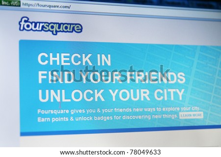 NEW YORK - MAY 19: Google Places is now allowing users to add location information about places users have visited via Foursquare and other mobile Web services on May 19, 2011 in New York, NY - stock photo