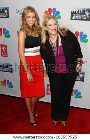 NEW YORK-MAY 20: Ivanka Trump and comic Lisa Lampanelli attend the 'Celebrity Apprentice' Live Finale at the American Museum of Natural History on May 20, 2012 in New York City. - stock photo