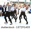 NEW YORK-MAY 3: Korean rapper Psy performs on the Today Show at Rockefeller Plaza on May 3, 2013 in New York City.  - stock photo