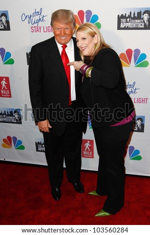 "NEW YORK-MAY 20: Lisa Lampanelli and Donald Trump attend the ""Celebrity Apprentice"" Live Finale at the American Museum of Natural History on May 20, 2012 in New York City."