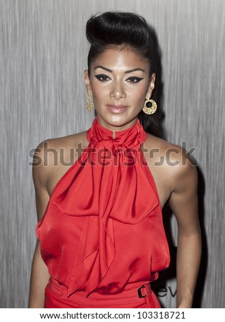 NEW YORK - MAY 23: Nicole Scherzinger attends the 'Men In Black 3' New York Premiere at Ziegfeld Theatre on May 23, 2012 in New York City. - stock photo