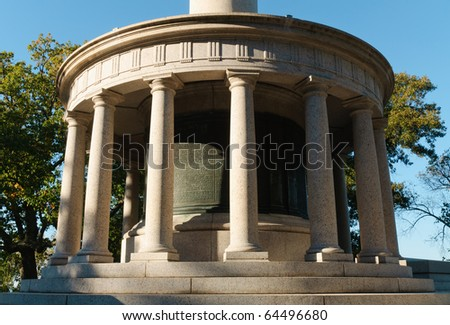 New York Monument at Point Park on Lookout Mountain - stock photo