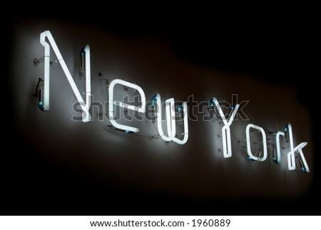 New York neon sign - stock photo
