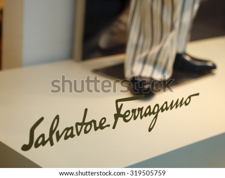 New York, New York, USA - March 14, 2011: The Salvatore Ferragmo logo ...