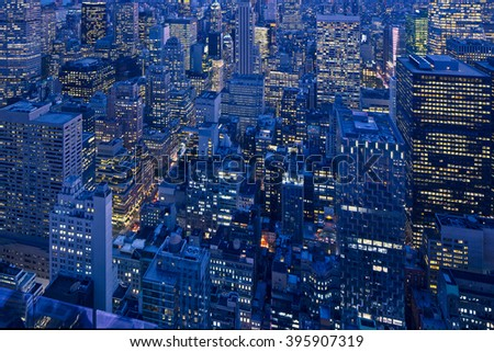New York night scene