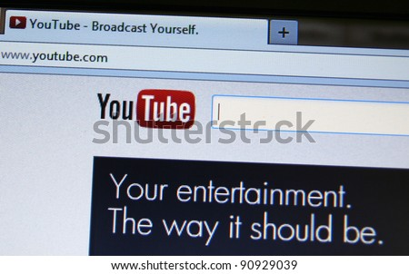 NEW YORK - NOV 23: A deal was announced that Walt Disney Pictures will start allowing hundreds of their films to be rented on YouTube, the Google-owned video hosting site on Nov 23, 2011 in New York - stock photo