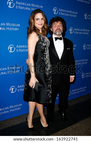 NEW YORK-NOV 21; Actress Tina Fey and husband Jeff Richmond attend American Museum of Natural History's 2013 Museum Gala at American Museum of Natural History on November 21, 2013 in New York City. - stock photo
