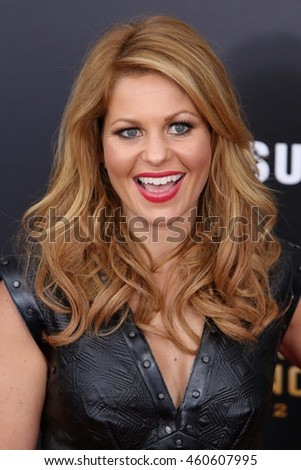 "NEW YORK - NOV 18, 2015:  Candace Cameron Bure attends the premiere of ""The Hunger Games: Mockingjay - Part 2"" at AMC Lincoln Square on November 18, 2015 in New York City."
