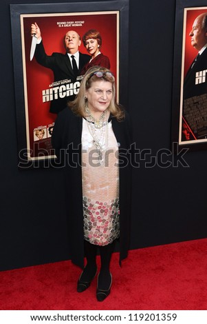"NEW YORK-NOV 18: Costume Designer Julie Weiss attends the premiere of ""Hitchcock"" at the Ziegfeld Theatre on November 18, 2012 in New York City."