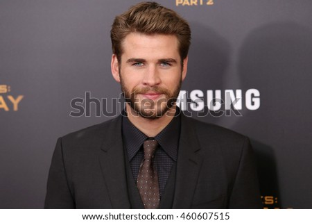 "NEW YORK - NOV 18, 2015:  Liam Hemsworth attends the premiere of ""The Hunger Games: Mockingjay - Part 2"" at AMC Lincoln Square on November 18, 2015 in New York City."