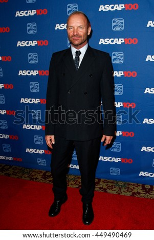 NEW YORK-NOV 17: Sting attends the ASCAP Centennial Awards at The Waldorf Astoria on November 17, 2014 in New York City. - stock photo