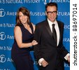 NEW YORK - NOV 10: Tina Fey and Fred Armisen joke at the American Museum of Natural History's  2011 Gala on November 10, 2011 in New York City, NY. - stock photo