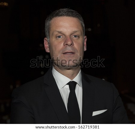 NEW YORK - NOVEMBER 12: CEO Manuel Ehrensperger attends runway for the 2014 Atelier collection by Pronovias at St. James Church on November 12, 2013 in New York City