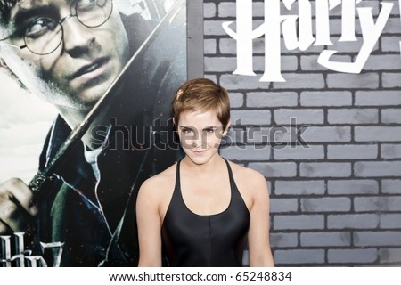 NEW YORK - NOVEMBER 15: Newsworthy: Actress Emma Watson attends the premiere of 'Harry Potter and the Deathly Hallows: Part 1' at Alice Tully Hall on November 15, 2010 in New York City. - stock photo