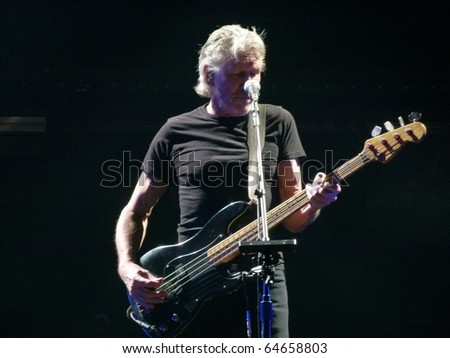 "NEW YORK - NOVEMBER 6: Roger Waters Performs ""The Wall Live"" In Madison Square Garden on November 6, 2010 in New York."